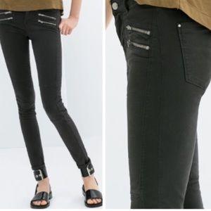 Zara TRF motto skinny jeans